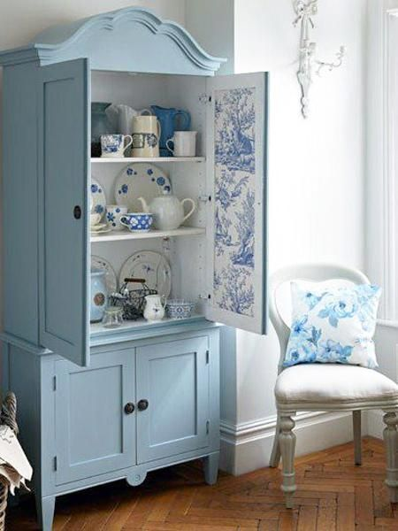 ...turn an old armoire into a china cabinet....I would maybe take the doors off if I had pretty dishes to display