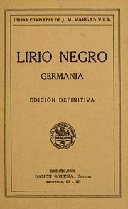 Lirio Negro  Jose Maria Vargas Vila