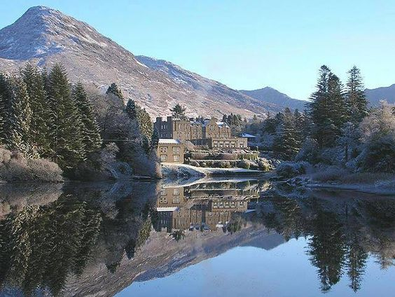 photo was taken at Ballynahinch Castle which is indeed in Connemara, Co. Galway.