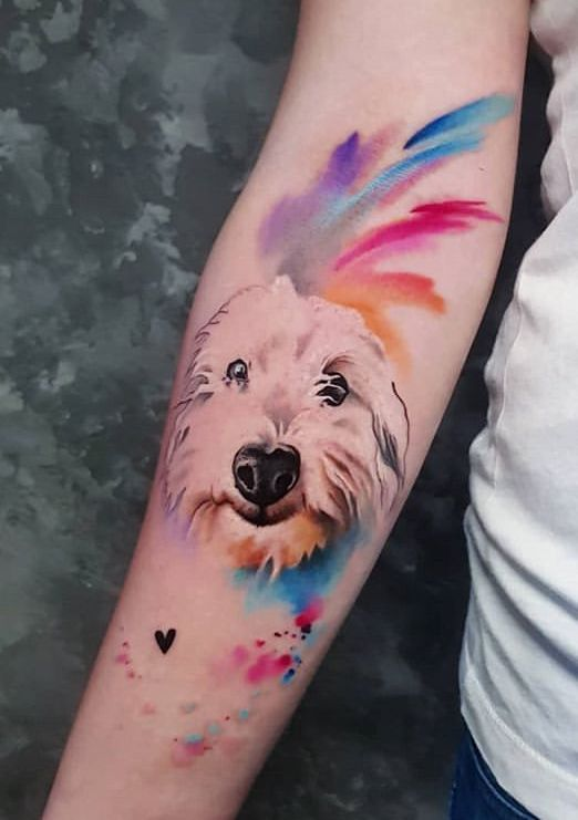 Simona Blanar Watercolor Dog Tattoo Tattoos Hermosos Tatuajes