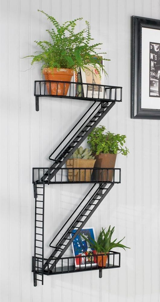 50 Industrial Style Furniture Home Decor Accessories 7m Woodworking Specializes In Industrial Interio Fire Escape Shelf Unique Wall Shelves Home Wall Decor
