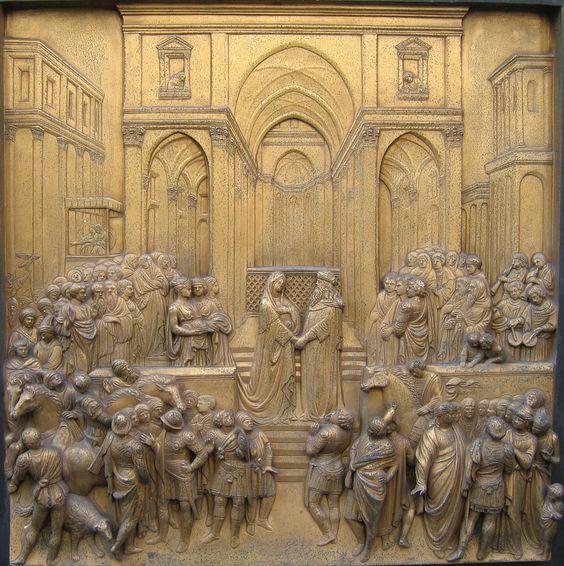 El rey Salomón junto a la Reina de Saba (Ghiberti)