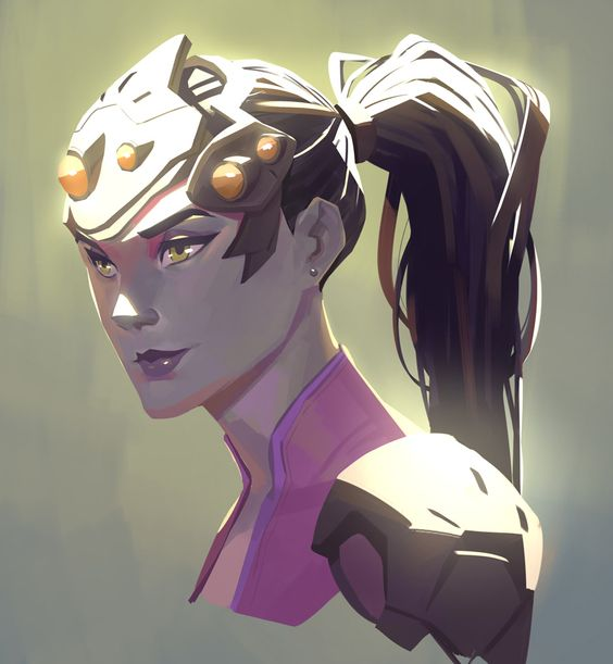 Female character design, Overwatch widowmaker and Painting ...