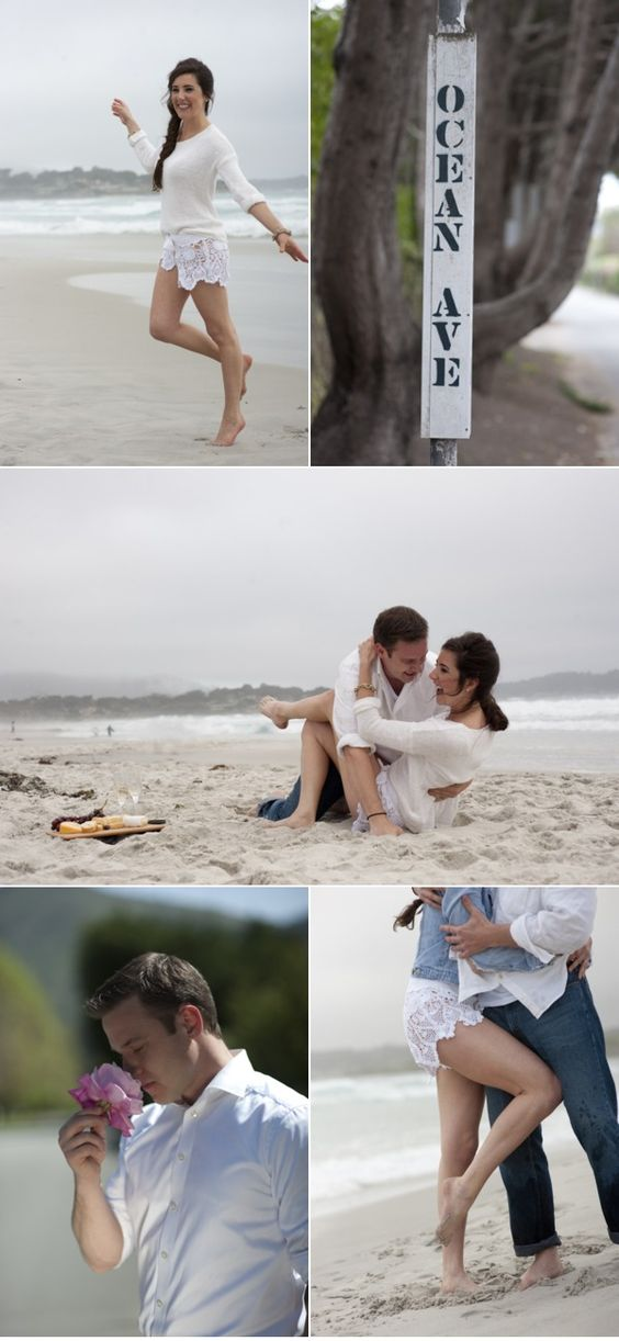 Beachy engagement photos