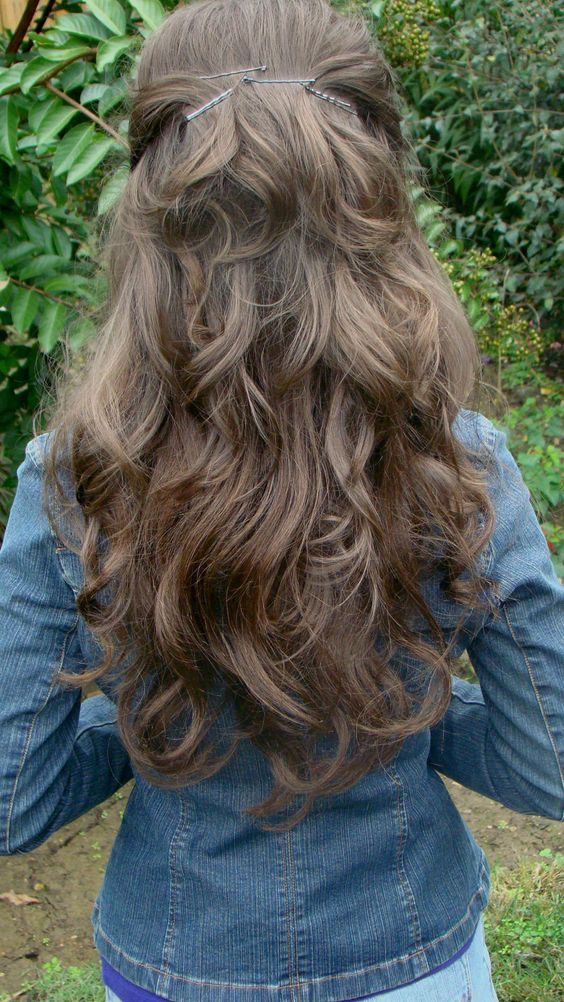 This is beautiful!!! thick wavy hair