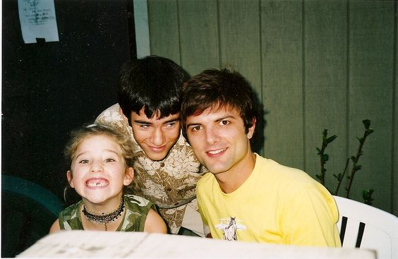 Adam Scott and his costar's kids backstage during Romeo and Juliet, 2001 #calshakes40th