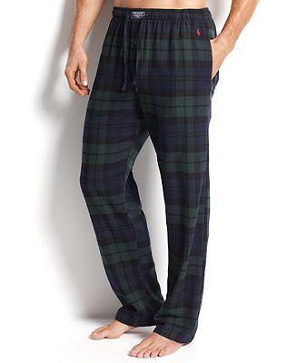 Polo Ralph Lauren Men's Sleepwear, Big and Tall Flannel Pajama ...