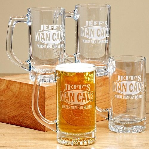 Man Cave Mugs - Set of 4 - 13 Oz. from Personal Creations on Catalog Spree
