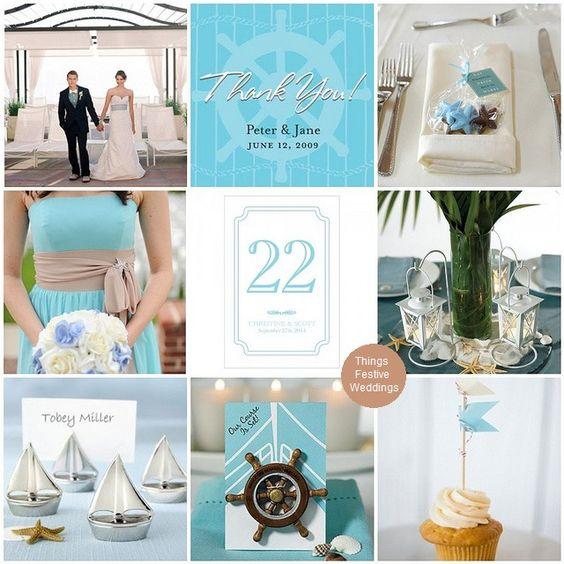 nautical wedding theme in aqua http://thingsfestive.blogspot.com/2012/10/nautical-wedding-theme-in-aqua-love-by.html