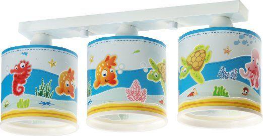 """Lampada da soffitto, modello """"acquario"""", Dalber 60333, pesce pagliaccio, cavalluccio mrino e tartarughina di mare, per cameretta dei bambini"""