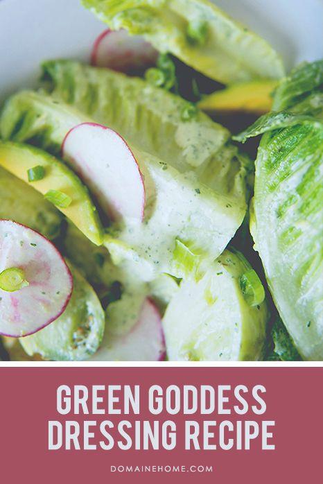 Greed Goddess Dressing Recipe: Dressing Recipes, Green Goddess Salad Dressing, Salad Recipe, Greed Goddess, Kitchen, Food Drink, Green Goddess Dressing