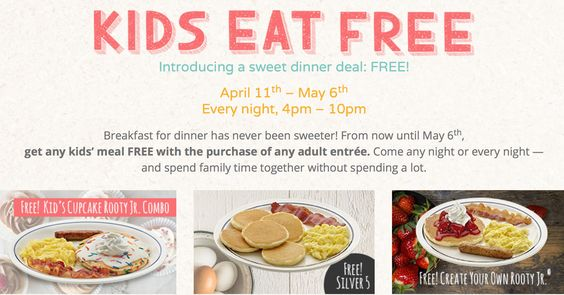 IHOP: FREE Kids' Meal with Adult Entrée Purchase from 4-10PM (Valid Through…