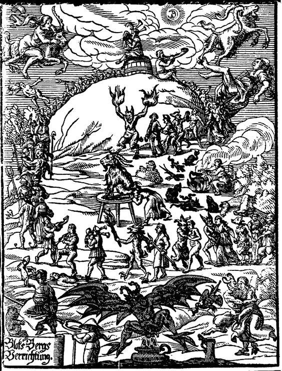 El aquelarre. Ilustración del libro de Anton Praetorius