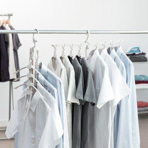 Smart Collapsible Hanger Inspiring Product Folding Hanger Space Saving Hangers Laundry Rack