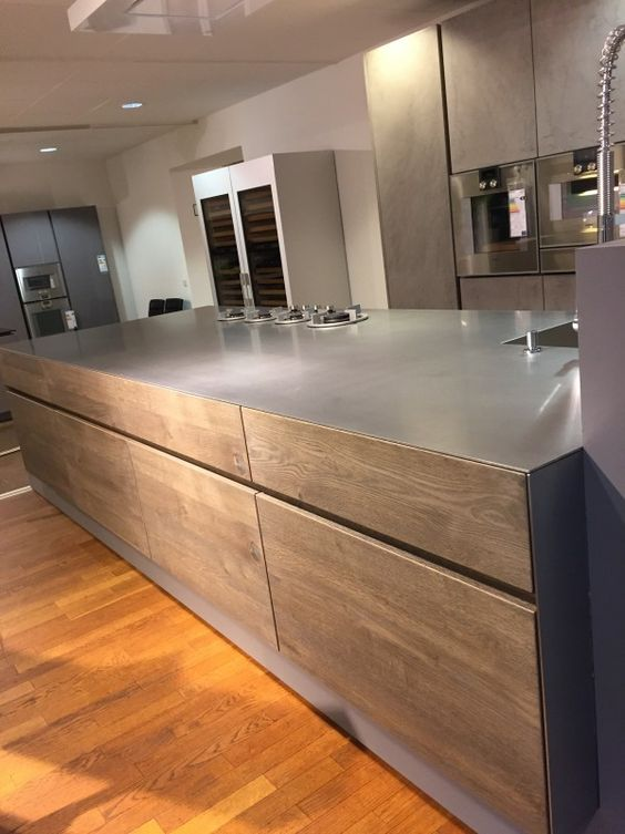Küchenmöbel Küche Beton Altholz von Eggersmann Interior - nolte express k chen