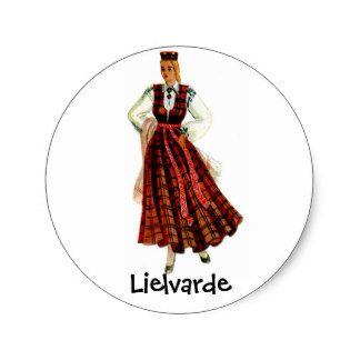 Traje regional letão para Lielvarde Adesivo