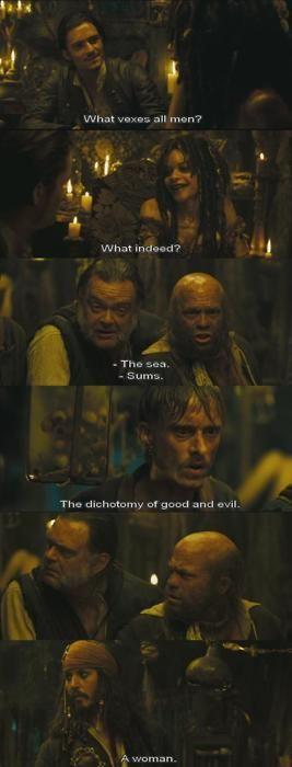 What vexes all men? (Dead Man's Chest)