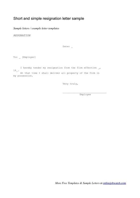 letter of resignation samples template widescreenwriting a