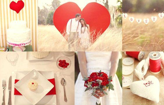 decoracion blanca y roja