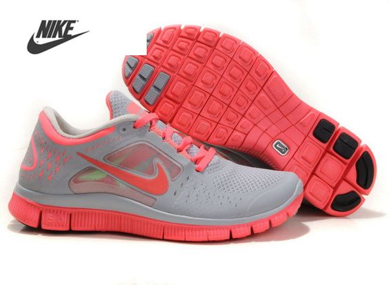 Pas Cher Nike Free Run 3 Femme Gris Rose Chaussures France