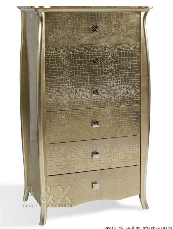 A&X Imperial - Gold 6 Drawers Chest VGUNAW554-76