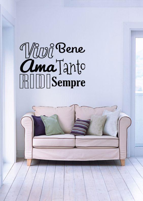Casa dolce casa - Wall stickers - Frasi motivazionali - Vivi Ama Ridi | elzapoppin: