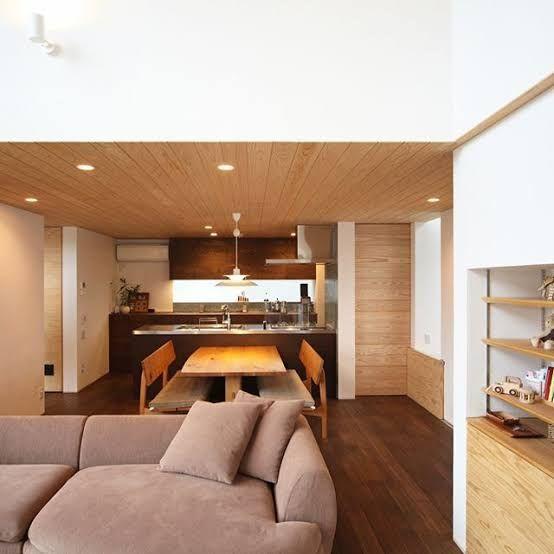 造作収納 キッチン 天井 板張り の画像検索結果 家 リビング 住宅