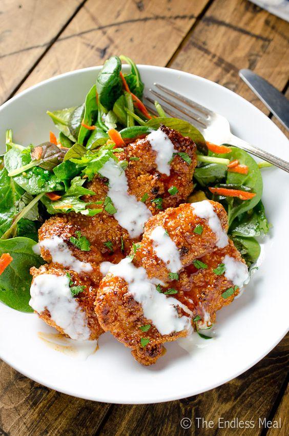 Sweet and Spicy Paleo Chicken Bites: