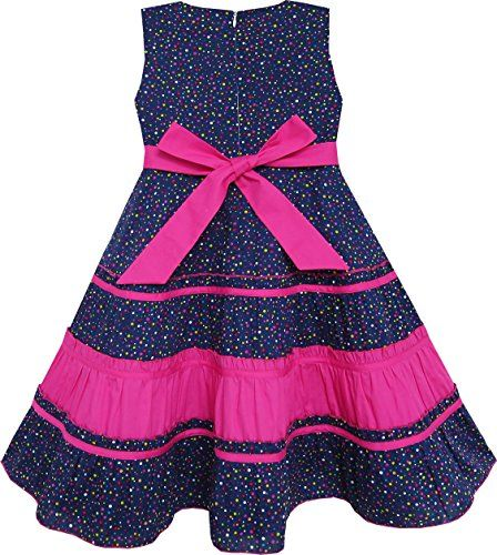 Sunny Fashion Girls Dress Bow Tie Polka Dot Print Striped Pattern Pink  Buy New: $12.99	- $19.56