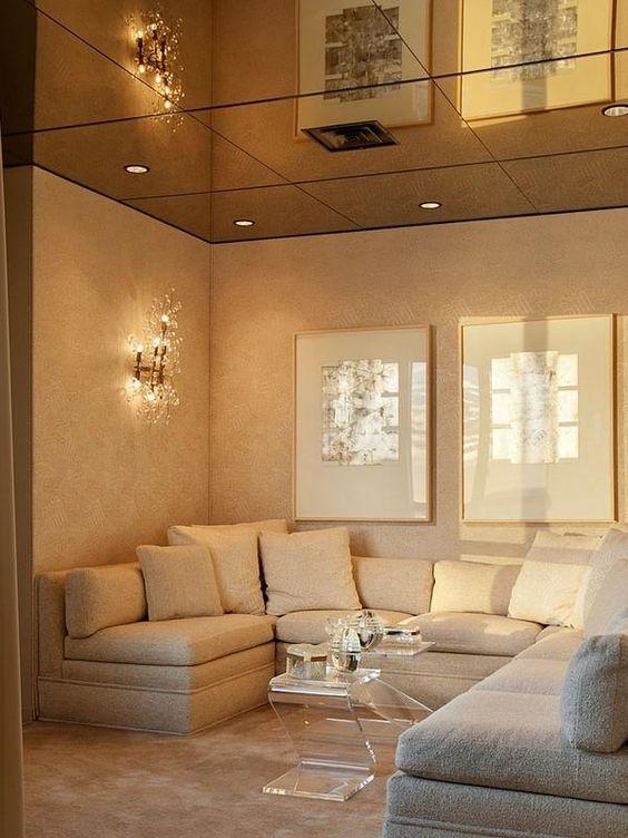 Mirrored ceiling bedroom