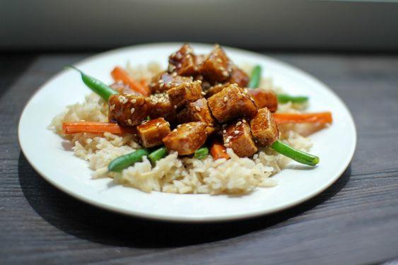 sésamo tofu salteado