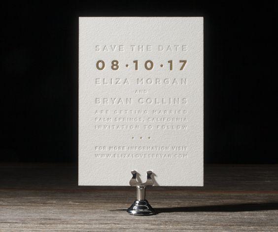 Letterpress Wedding Invitations | Parker Design | Bella Figura Letterpress