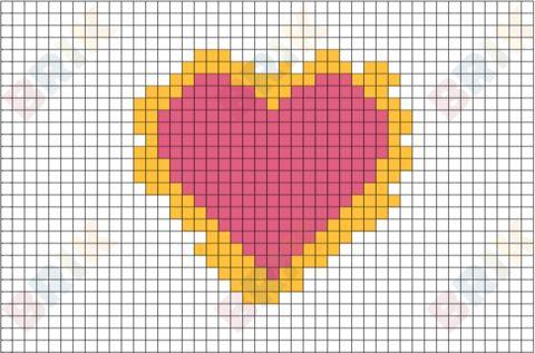 Heart Pixel Art  Graph Paper Art    Graph Paper Art