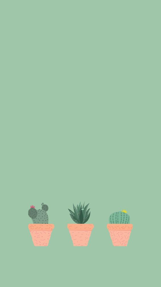Cute Cacti Iphone Wallpaper Plain Green Background Color Wallpaper Iphone Plain Green Background Plain Wallpaper Iphone