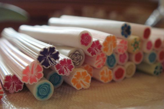 '50 pcs Fimo Rods Nail Art  Flowers' is going up for auction at  7pm Mon, Oct 8 with a starting bid of $5.