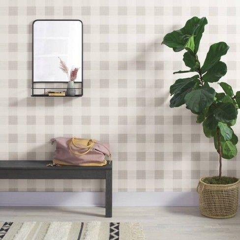 Large Gingham Wallpaper Plaid Threshold Home Decor Plaid Wallpaper Removable Wallpaper