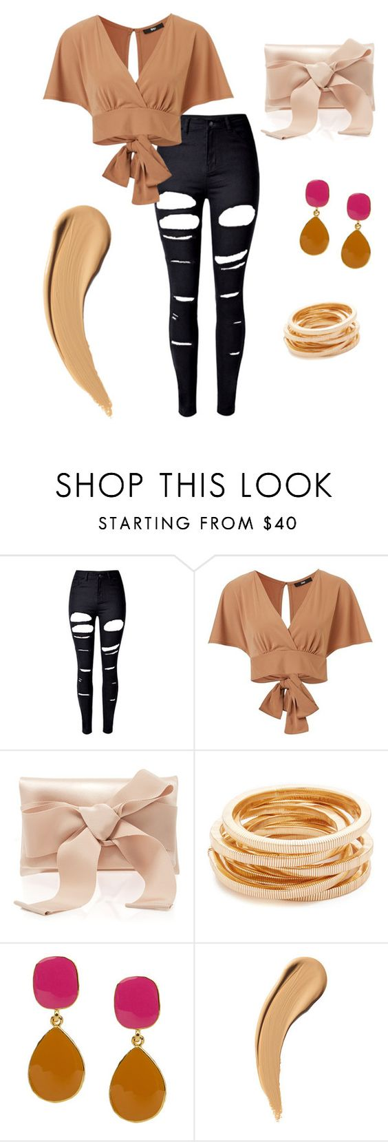 """""""Untitled #132"""" by anjola112 on Polyvore featuring WithChic, Oscar de la Renta and Kenneth Jay Lane"""