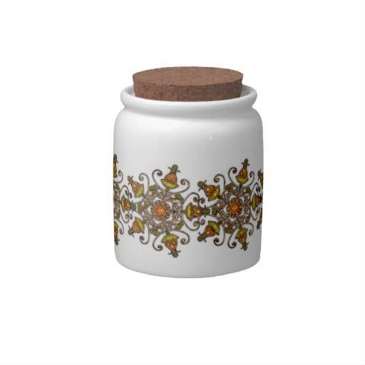 """Candy Jar """"Painted Autumn"""" Var01, florales Design, herbstliche Farben, Grafik und Entwurf bei ArianneGrafX©2012"""