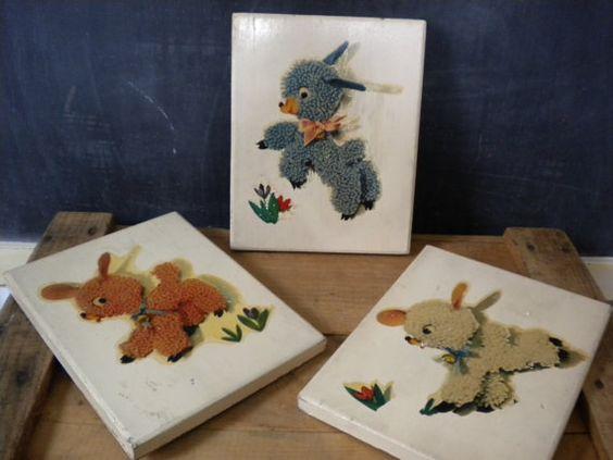 Lovely Vintage Lamb Nursery Signs / Vintage by JMFindsandDesigns