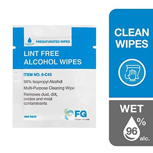 Fg Clean Wipes 4 X3 Lint Free Alcohol Wipes 96 Ipa Box Of 60