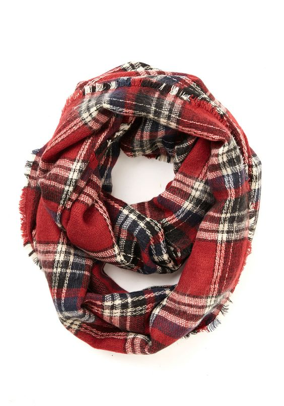 Red plaid scarf plaid scarfs winter scarfs flannel scarf plaid