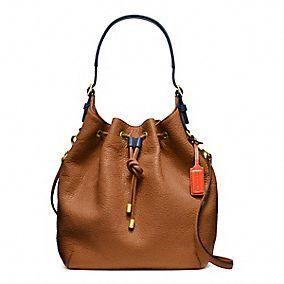 Plan b....Coach :: New Soft Legacy Drawstring Shoulder Bag In Pebbled Leather
