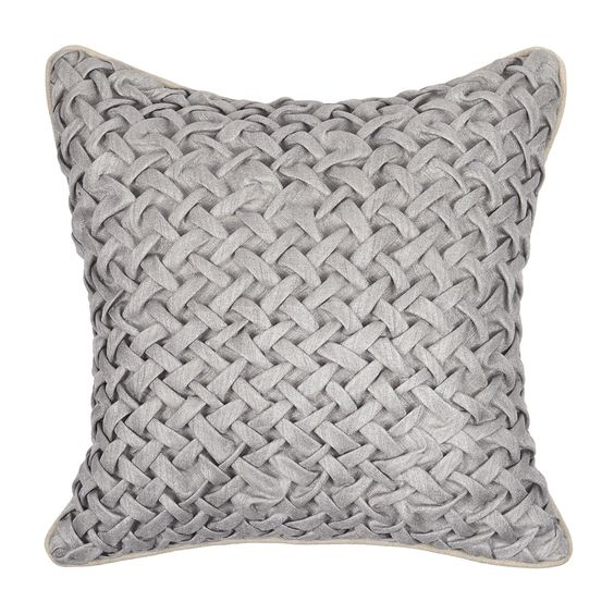 Shop Kosas Home  V100334 Noreen Gray 18-in x 18-in Pillow at ATG Stores. Browse our decorative pillows, all with free shipping and best price guaranteed.