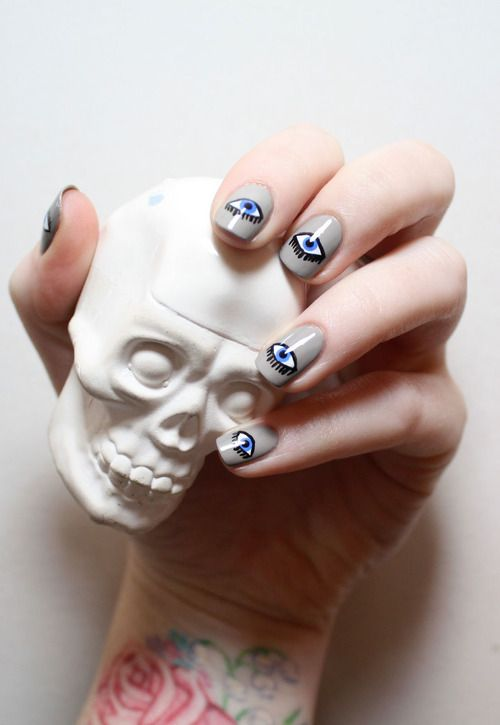 evil eye nail art | Makeup & Hair | Pinterest | Evil eye nails, Evil eye  and Eyes - Evil Eye Nail Art Makeup & Hair Pinterest Evil Eye Nails