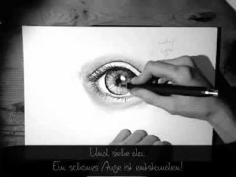 Auge zeichnen - Zeichen-Tutorial (für Anfänger) - YouTube