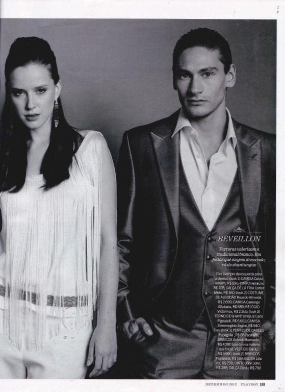 Bom dia...  A Black Tie saiu em uma matéria da revista masculina PlayBoy com o traje Carlo Pignatelli exclusivo da nossa loja.  Confiram na imagem!