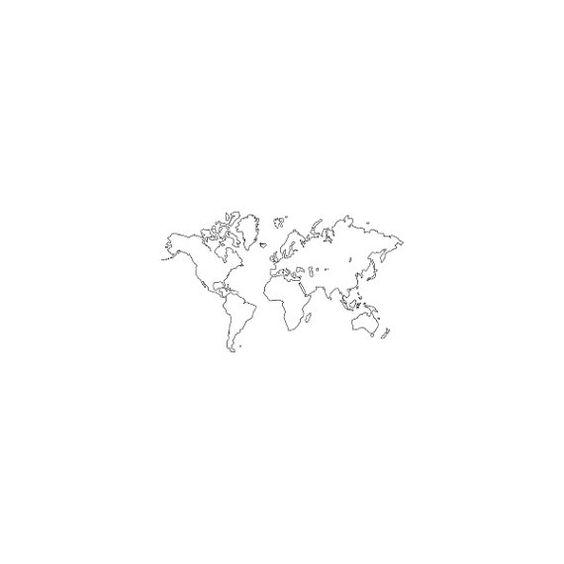 Carte du monde tatouage temporaire ensemble de 2 par Tattify