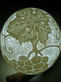 Arte em Casca de Ovos - Escultura em casca ovo - Egg Carving