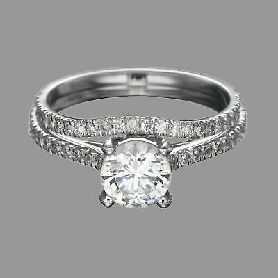 1//5 Ct Sim Diamond 14K White Gold Finish Eternity Engagement Wedding Band Ring