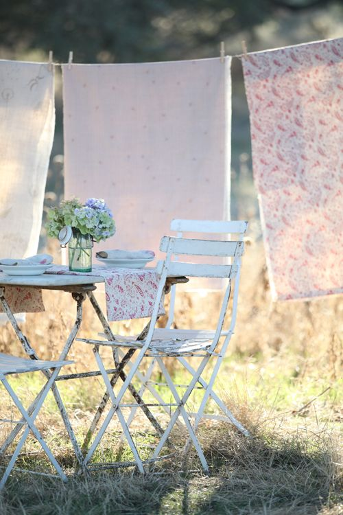 Enjoy breakfast outside during the summer. Dry your laundry in the sun to give it the best fresh scent no product can imitate.